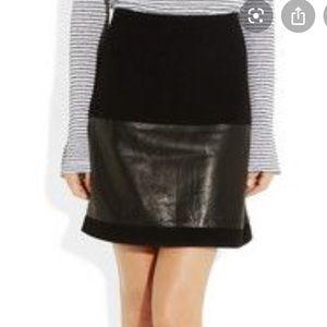 Diane Von Furstenburg Caitlin Ponte Knit Skirt 0